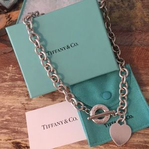 Authentic Tiffany & Co Toggle Heart Necklace.